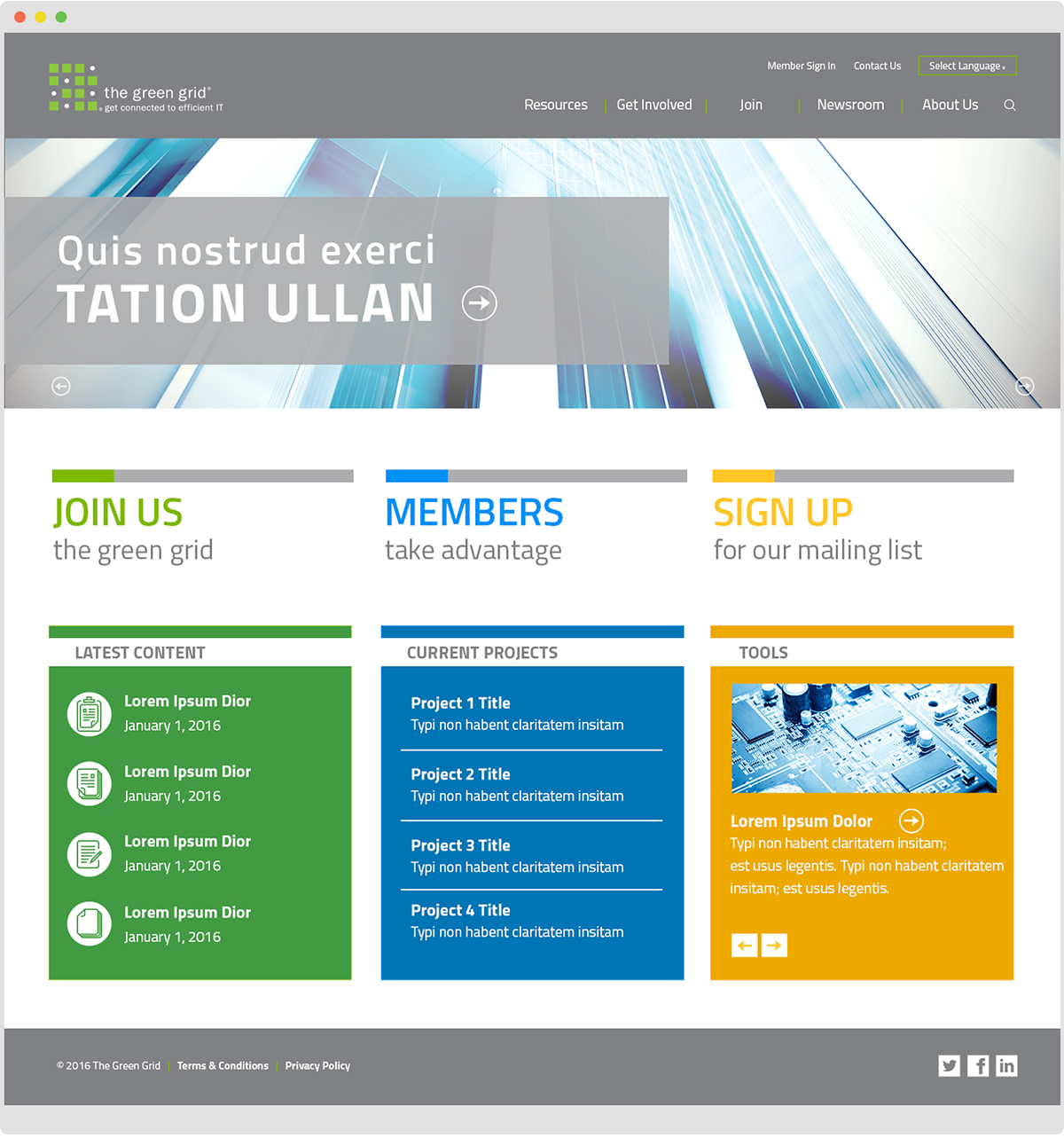 The Green Grid Website - Homepage