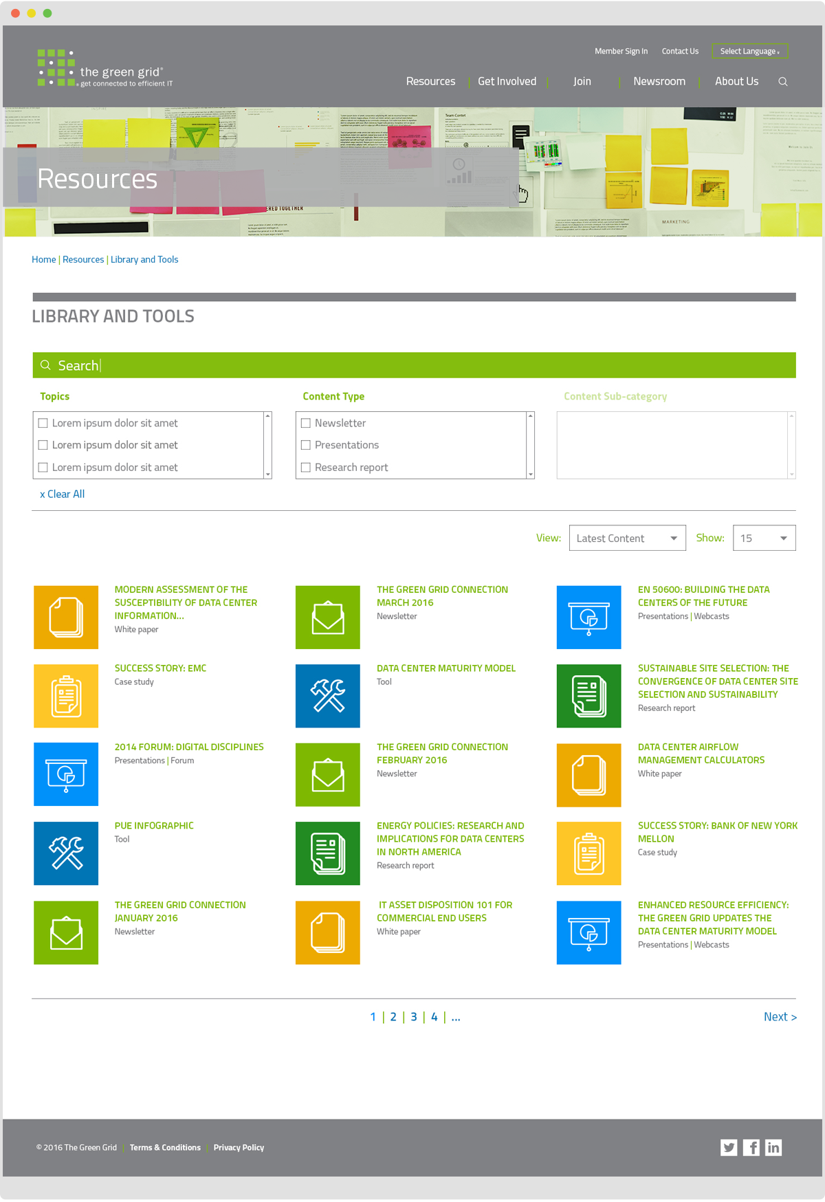The Green Grid Website - Library